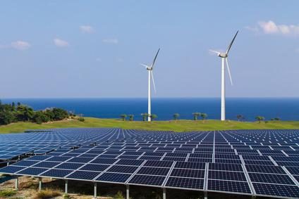 メガソーラーと風力発電